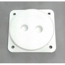 """ฝาส้วม PVC สีขาว ฝาส้วมพลาสติก   ขนาด 6"""" ฝาปิดบ่อส้วม ฝาปิดบ่อเกรอะ"""